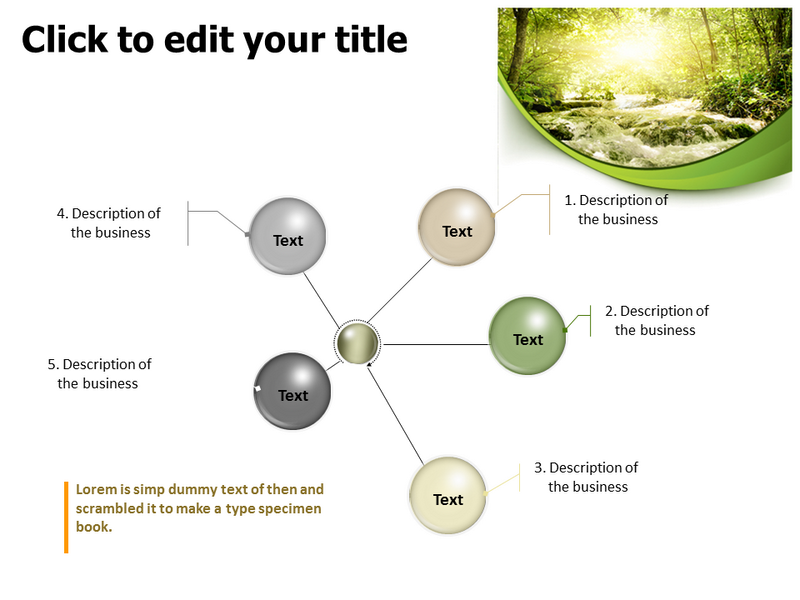 Light in the Forest Powerpoint Templates