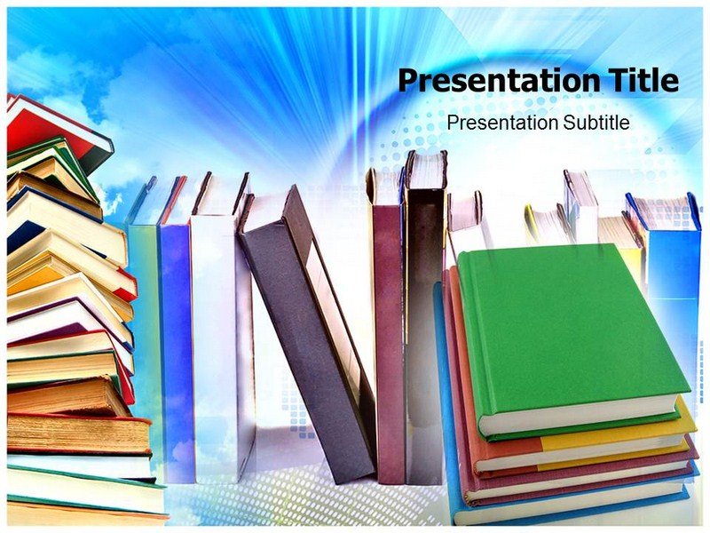 Bookstore ppt powerpoint templates powerpoint template on my toneelgroepblik Choice Image