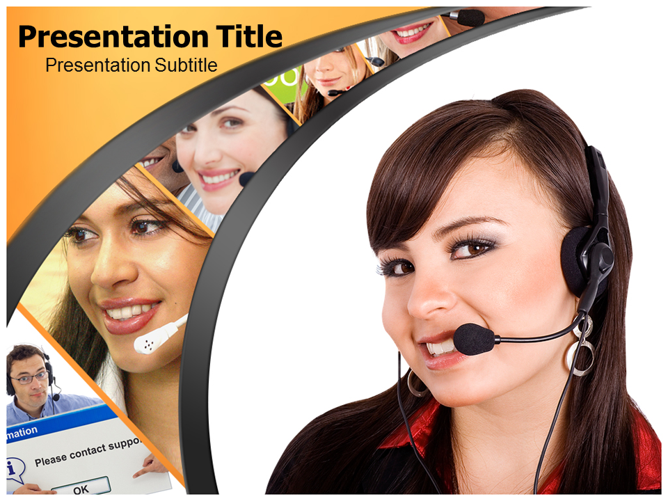 Customer Support Services Powerpoint Templates