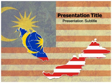 Map Of Malaysia 1 Powerpoint Templates