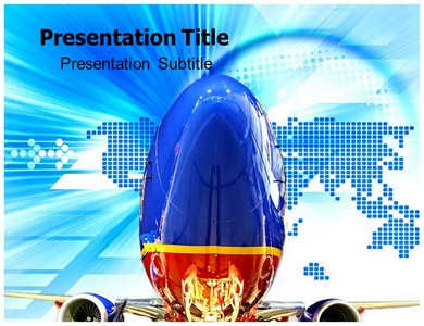 southwest airlines promo powerpoint templates - Southwest Airlines Ppt Template Free Download