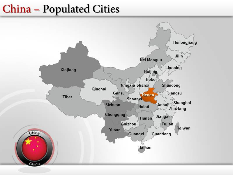 China Map Powerpoint (PPT) Templates   China Map Template ...