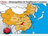 Map of China  power Point templates