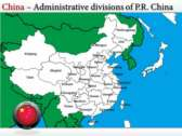 Map of China  backgroundPowerPoint Templates