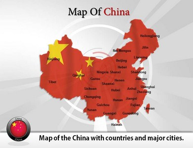 Map of China  PowerPoint Templates