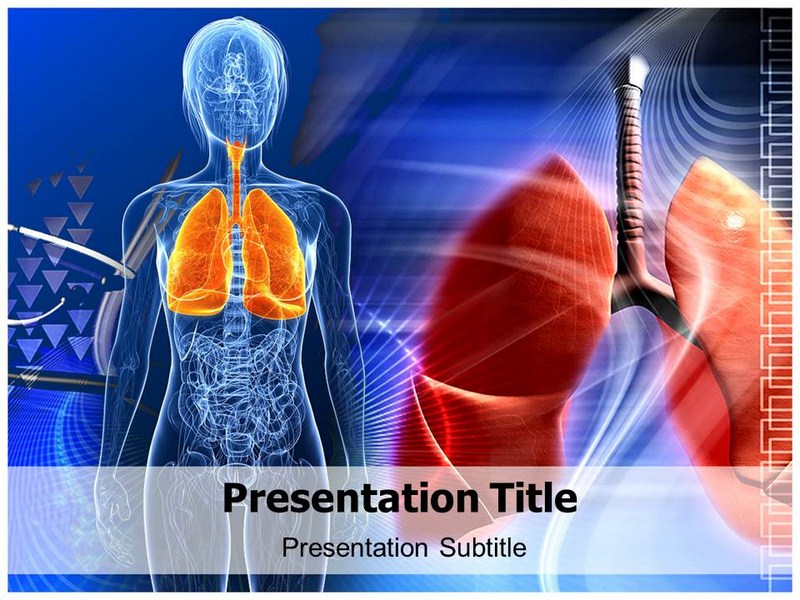 Human Lungs Powerpoint Templates Powerpoint Presentation On Human