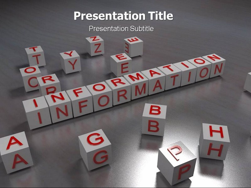 Information Types Powerpoint Templates