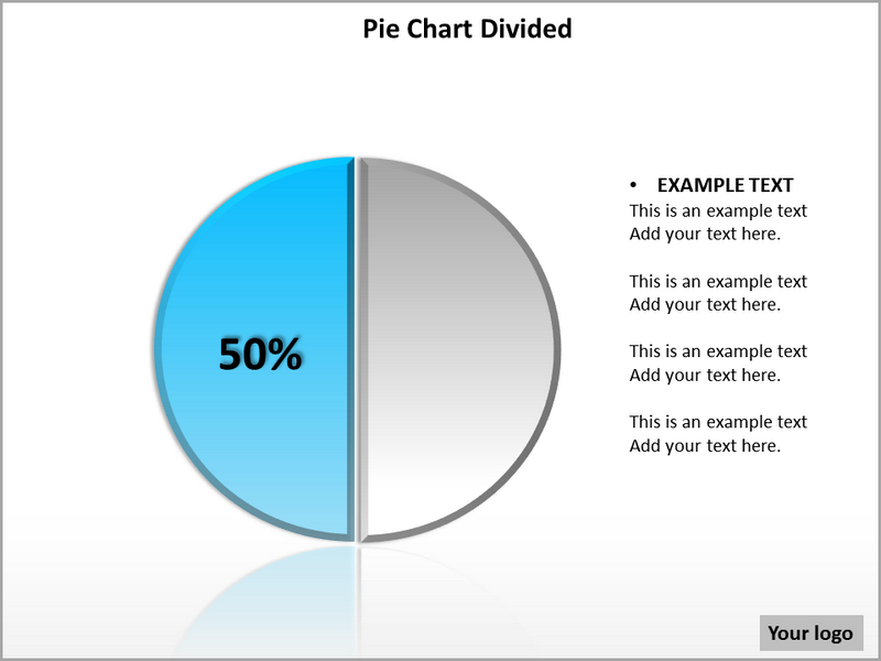 Pie Chart Divided PowerPoint Template Powerpoint Templates