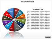 Pie Chart Divided PowerPoint Template powerPoint background