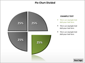 Pie Chart Divided PowerPoint Template powerpoint download