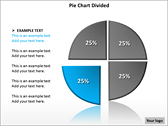 Pie Chart Divided PowerPoint Template slides for powerpoint