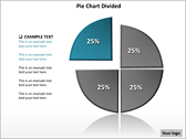 Pie Chart Divided PowerPoint Template power Point templates