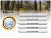 Falling Autumn Leaves ppt templates