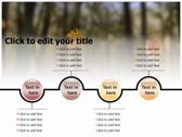 Falling Autumn Leaves power Point templates