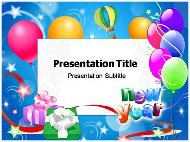 New Year 1 Powerpoint Templates