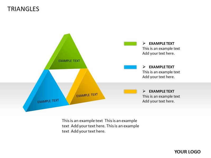 Triangles Chart Powerpoint Templates