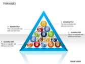 Triangles Chart ppt templates