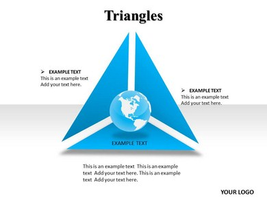 triangle chart powerpoint templates slideworld
