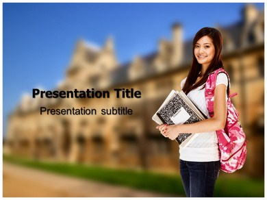 Asian Student Powerpoint Templates