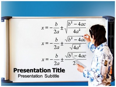 Quadratic formula Powerpoint Templates