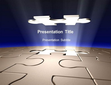 Puzzles pieces Powerpoint Templates