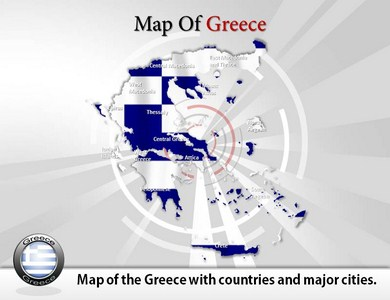 Map of Greece  PowerPoint Templates