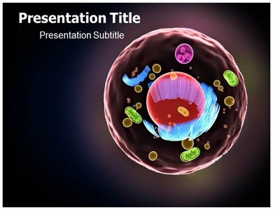 cell structure human powerpoint template | ppt on cell structure, Modern powerpoint