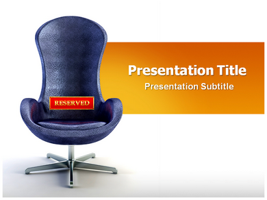 Reserved Seat Powerpoint Templates
