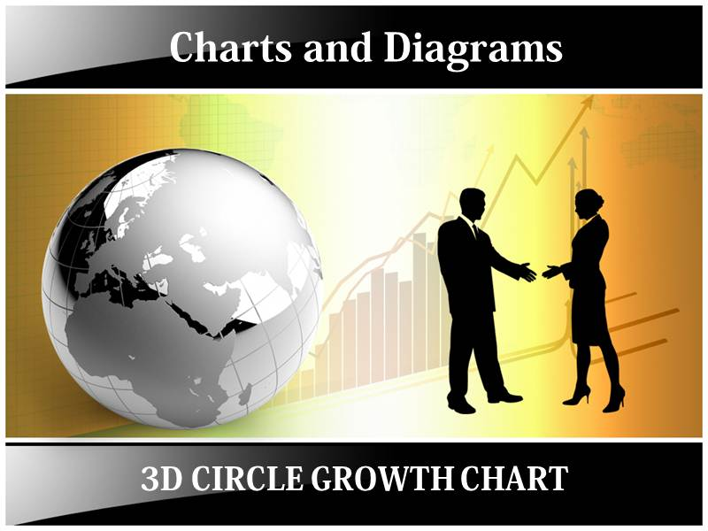 3D Circle Growth Chart Powerpoint Templates