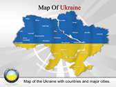 Map of Ukraine  powerPoint template
