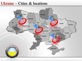 Map of Ukraine  powerPoint templates