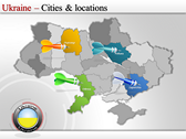 Map of Ukraine  powerpoint template download