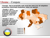 Map of Ukraine  power Point templates