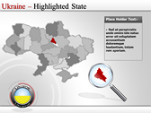 Map of Ukraine  powerPoint backgrounds