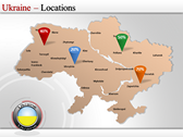 Map of Ukraine  power Point Backgrounds