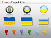 Map of Ukraine  themes for power point