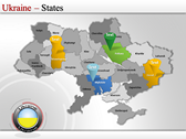 Map of Ukraine  power point download