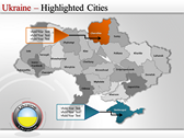 Map of Ukraine  fullpowerpoint download