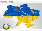 Map of Ukraine  power point background templates