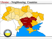 Map of Ukraine  power point background graphics