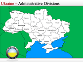 Map of Ukraine  power Point theme