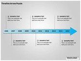 Timeline Arrow Puzzle power Point templates