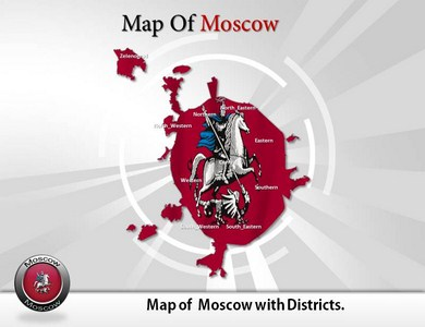 Moscow Maps  PowerPoint Templates