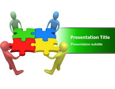 Team Work Goal Powerpoint Templates