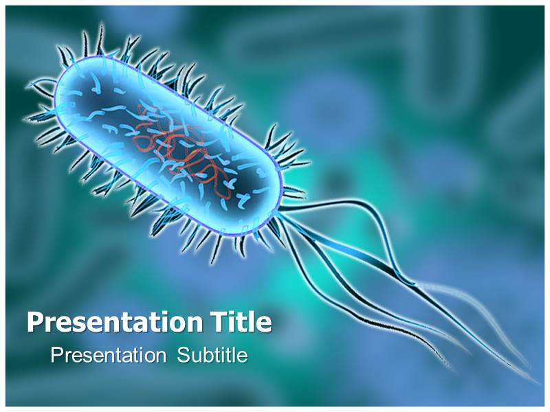 bacterium animated powerpoint templates, powerpoint background, Modern powerpoint