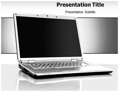 Laptop Skin Powerpoint Templates