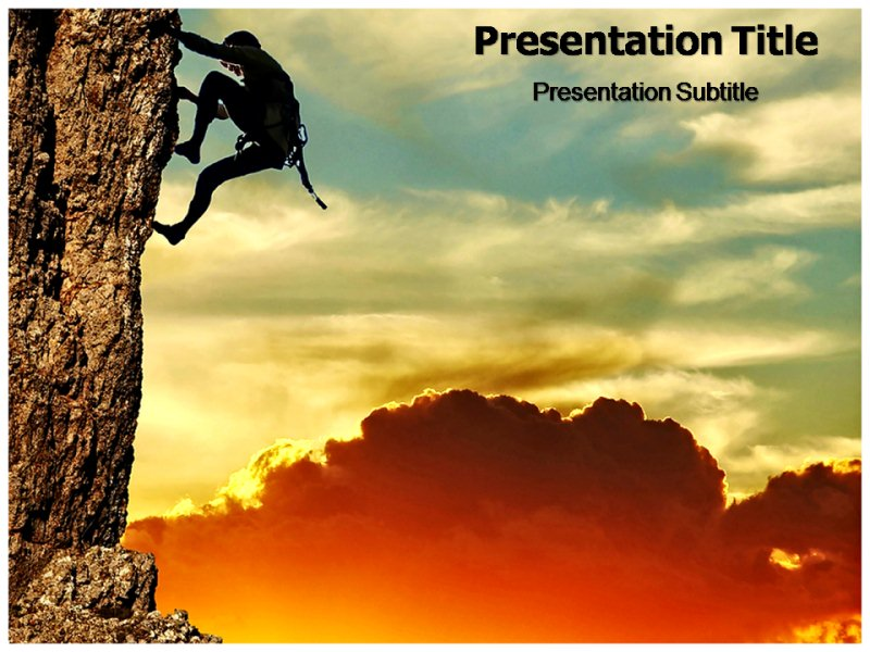 Mount climbing Powerpoint Templates