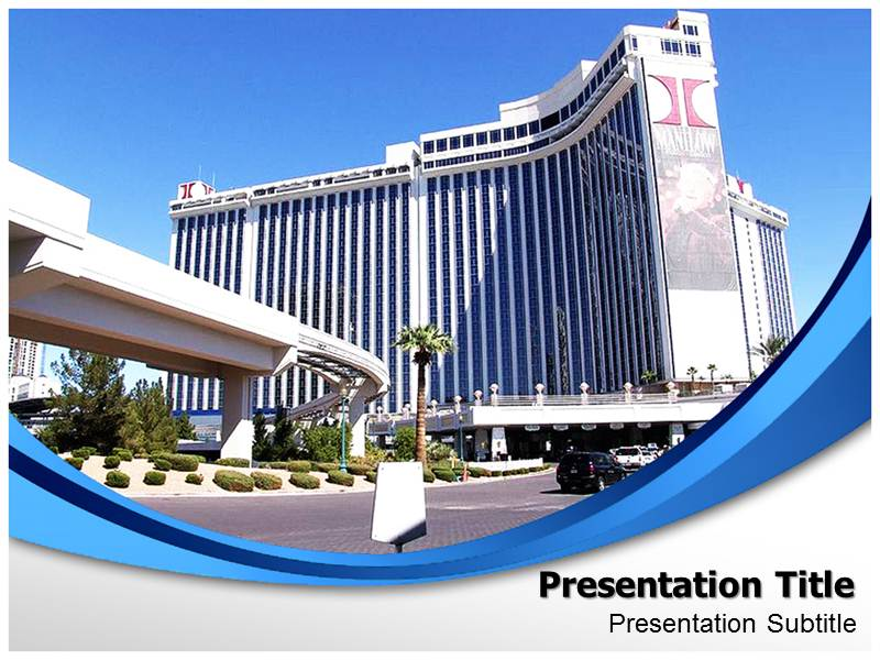 hilton hotel powerpoint template, hilton hotel ppt background themes, Modern powerpoint