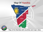 Map of Namibia  powerPoint template