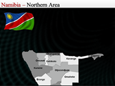 Map of Namibia  ppt templates